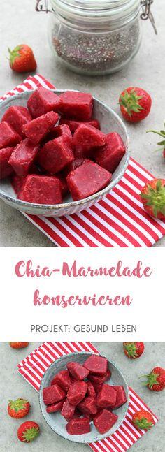 Chia Marmelda konservieren. Immer Chiamarmelda griffbereit bei Heißhunger oder Lust auf etwas Süßes. Zuckerfrei kann so lecker schmecken.