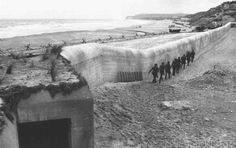 These were the fortifications of the Atlantic Wall calls, which were built under the supervision of field Marshal Erwin Romell, partial view of part of this wall