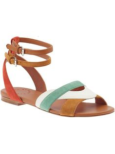 i love the colors of these sandals