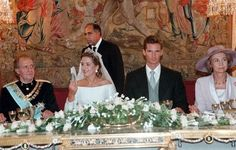 Banquet after the ceremony, the couple Infanta Cristina and Iñaki Urdangarin, here with the Kings of Spain