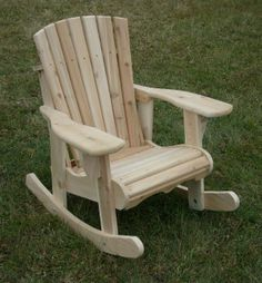 Woodchuckers Manufacturing, Timmins Ontario- Cedar rocker- natural