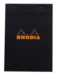 Rhodia Classic Notepads Top Staplebound 6 x 8 ¼ Graph Black 80 sheets