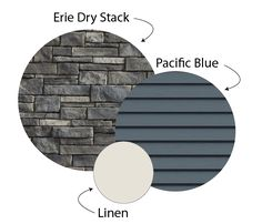 Exterior stone, siding and trim - House Colours House Paint Exterior, Exterior House Colors, Siding Colors For Houses, Houses With Stone Exterior, Exterior Paint Colors For House With Stone, Vinyl Siding Colors, Stone Veneer Siding, Blue Siding, Shingle Colors