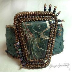 Forest Rocks  An Art Piece Bracelet / Cuff created by LynnParpard