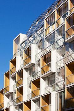 of Plein Soleil / rh+ architecture - 4 Plein Soleil,© Luc BoeglyPlein Soleil,© Luc Boegly Architecture Résidentielle, Koh Chang, Social Housing, Building Facade, Facade Design, Sully, Santorini Hotels, Beach Hotels, Captain Obvious