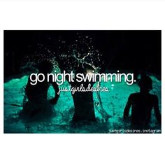 Night time swimming in our pool :)
