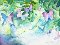 Flight of the Butterflies Painting  - Flight of the Butterflies Fine Art Print