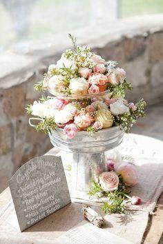 Garden party wedding cupcake display and zinc signage Cupcake Centerpieces, Unique Wedding Centerpieces, Unique Weddings, Wedding Decorations, White Weddings, Centrepieces, Indian Weddings, Floral Wedding, Rustic Wedding