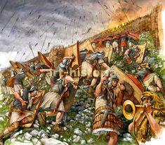 La Pintura y la Guerra. Sursumkorda in memoriam Historical Art, Historical Pictures, Historical Illustrations, Ancient Rome, Ancient History, Imperial Legion, Roman Legion, Roman Soldiers, Roman History