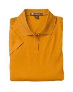 Harriton Women's Short Sleeve 4 oz Polytech Polo Shirt M315W gold Large Harriton. $13.19