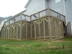 lattice work under decking