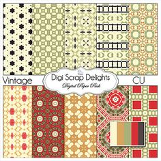 Buy 2 Get 1 Free Vintage Digital Scrapbook by DigiScrapDelights, $3.00