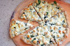 Chicken and Spinach Alfredo Pizza   Like Mother, Like Daughter
