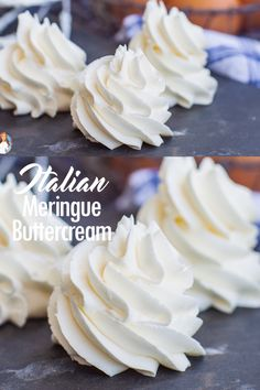 Meringue Buttercream Delicate, creamy and fluffy classic Italian Meringue Buttercream recipe. Perfect for cake decorating!Delicate, creamy and fluffy classic Italian Meringue Buttercream recipe. Perfect for cake decorating! Italian Buttercream, Italian Meringue, French Meringue Buttercream Recipe, Meringue Recipe Without Cream Of Tartar, Butter Cream Icing Recipe, Crusting Buttercream Recipe, Fluffy Frosting Recipes, Fluffy Icing, Homemade Frosting Recipes