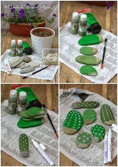 DIY: Cactus de pedras