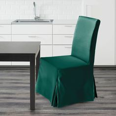 IKEA Henriksdal Dining Chair Cover, Hunter Green Velvet   affordable, designer, custom, handmade, trendy, fashionable, locally made, high quality Ikea Dining Chair, Dining Chair Covers, Green Velvet, Hunter Green, Slipcovers, Cushions, Luxury, Handmade, Navy