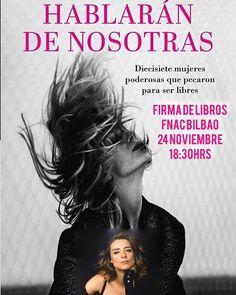 Sandra Barneda estará firmando su nuevo libro #hablarandenosotras en Fnac Bilbao el día 24 de Noviembre a las 18:30hrs #sandrabarneda #fnac #bilbao #libros