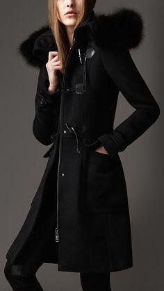 Burberry London Hooded Duffle Coat