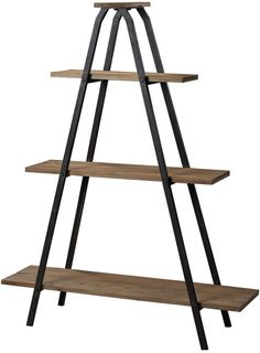 """Sterling Industries 51-10003 Wooden """"A"""" Line Shelves With Metal Frame"""