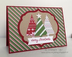 SU! Good Greetings stamp set; Tree punch; Trim the Tree DSP - Sylvia Verhulst