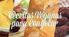 Dicas de Receitas Veganas para Congelar Sempre recebo dúvidas sobre quais receitas do blog que podem ser congeladas, pra ficar mais prático para o dia a dia, então resolvi fazer este post/vídeo para explicar o que congelo e como eu costumo fazer aqui em casa.   Hambúrgueres veganos Quibe frito, Falafel e Nuggets Vegano