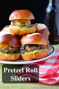 Pretzel Roll Sliders | Farm Fresh Feasts