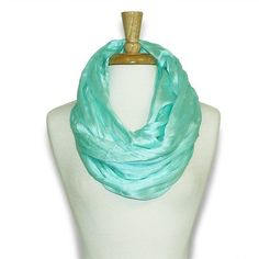Mint Shimmer Infinity Scarf
