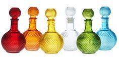 Amo garrafas coloridas !