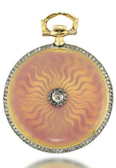 DIamond, enamel, silver and gold pocketwatch, by Cartier, circa 1900.