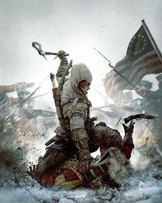 Assasin's Creed III for Xbox PlayStation 3 Nintendo Wii U and PC. Imagine the year The American Colonies. Political tornado's, wrestles citizens, complete chaos and civil unrest The Assassin, Assassins Creed 3 Pc, Assassin's Creed 3, Deutsche Girls, Assasins Cred, Game Poster, Old Posters, Gaming Posters, Horror Films