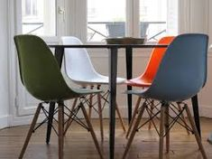 Image result for eames chairs table multicolor