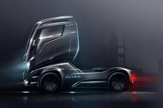 Concept about the new generation of Iveco Stralis Ev Truck, Future Trucks, Automotive Design, Auto Design, Truck Design, Futuristic Cars, Mobiles, Car Sketch, Car Wheels
