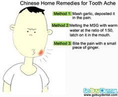 Chinese home remedies for toothache