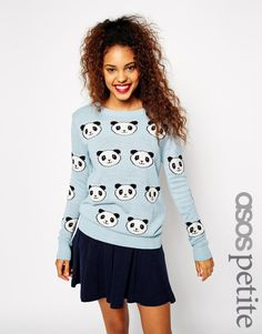 Image 1 of ASOS PETITE Sweater with Panda