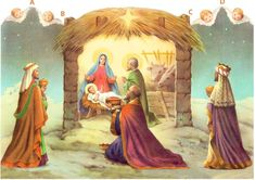 Merry Christmas Nativity Scene | Merry Christmas! A nativity scene for you | Paper dolls and other ...