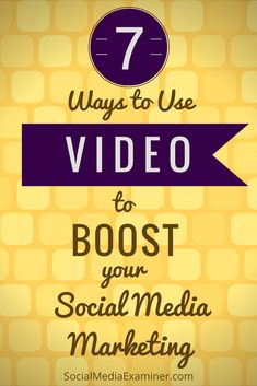 Video significantly increases engagement and sharing on Facebook, Instagram, YouTube and more! | Social Media Examiner #videomarketingideas
