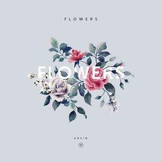 Botanical, card, illustrations, flowers, art