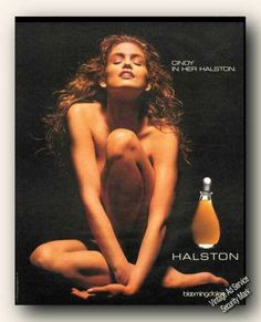 Naked Cindy Crawford Halston Advertising (1990)
