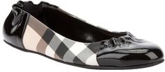BURBERRY Checked Ballet Pump...sooo super cute...and look ALMOST as comfy as my prada flats! :)