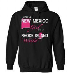 I Love V1-NEWMEXICO-RHODEISLAND GIRL Shirts & Tees