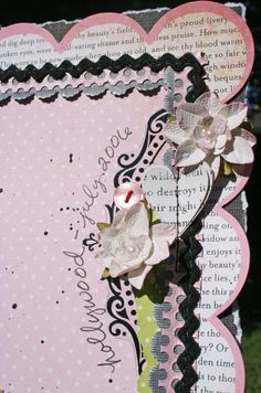 Love this layered border, I think I have one sheet of this Girls Paperie paper left!!!