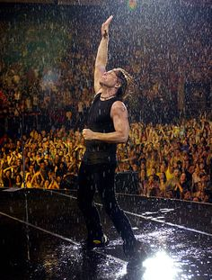 Jon Bon Jovi during Bon Jovi's 'Bounce Tour' Live at Giants Stadium on August 7, 2003 - Show at Giants Stadium in East Rutherford, New Jersey, United States.
