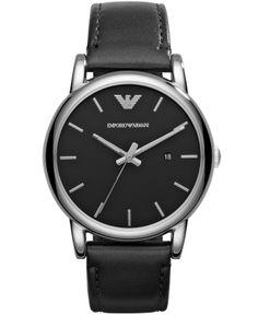 667c4460225 Emporio Armani Luigi Silver Tone and Black Watch