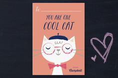 Cool Cats Classroom Valentine's Day Cards by Shannon Hays at minted.com