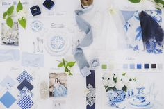 Blue & White Wedding Moodboard | Katia Tumenyeva Photography | Viktoria…