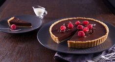 Indulgently rich and velvety, this Decadent Chocolate Tart is one dreamy dessert. Decadent Chocolate, Chocolate Hazelnut, Cooking Chocolate, Serving Plates, Dessert Recipes, Desserts, Winter Food, The Dish, A Food