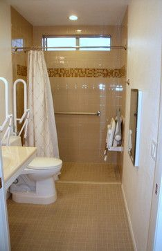 Bath Photos Handicapped Accessible Design Pictures Remodel Decor - Bathroom remodel for wheelchair access