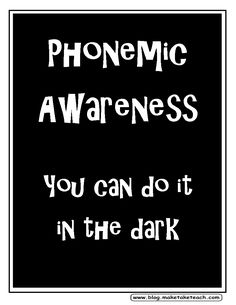 Great way to remember the difference between phonemic awareness and synthetic phonics. Synthetic phonics involves text!