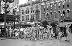 1920's downtown Houston Main Street