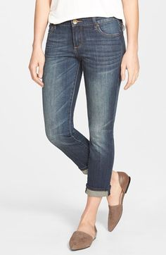 KUT from the Kloth 'Reese' Stretch Ankle Straight Leg Jeans (Encourage) (Petite) available at #Nordstrom